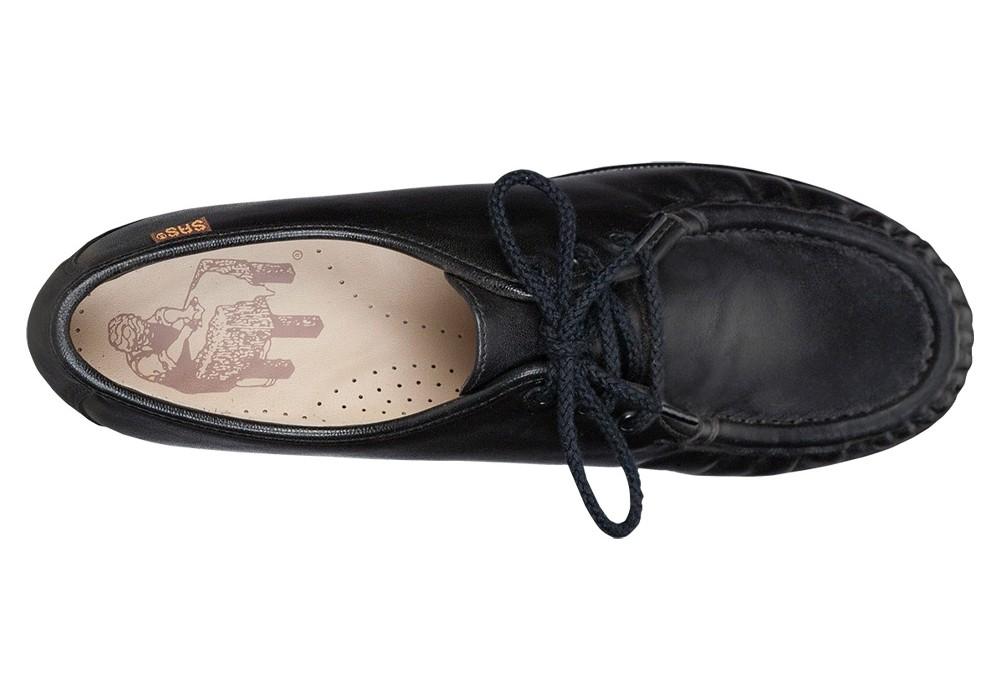 siesta black leather oxford sas shoes