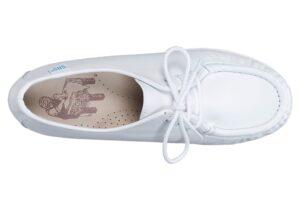 siesta white leather oxford sas shoes
