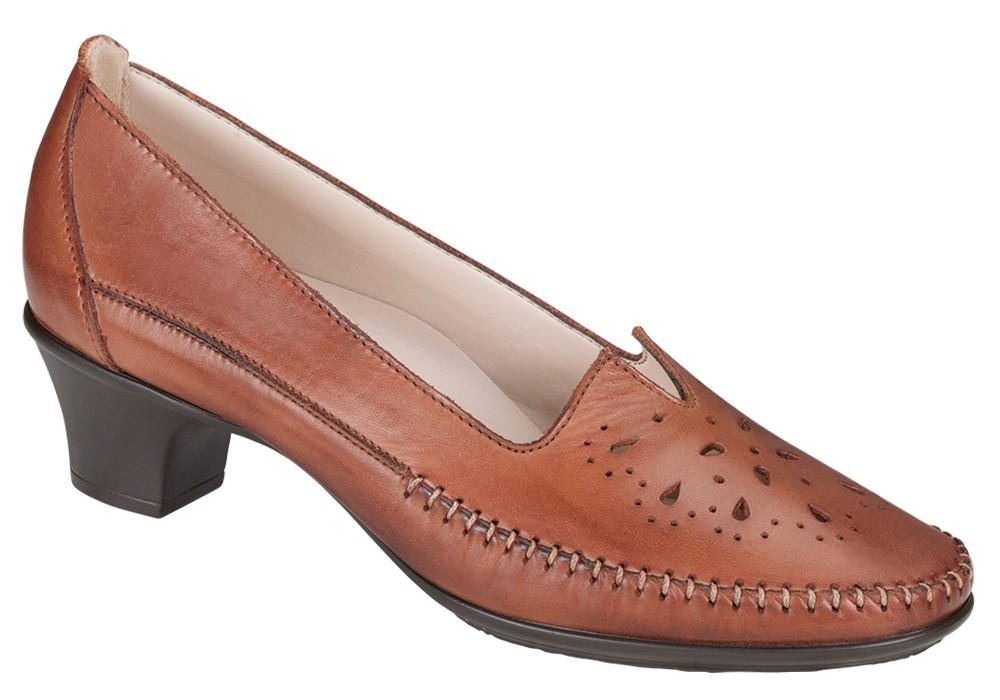 sonyo brown leather slip on sas shoes