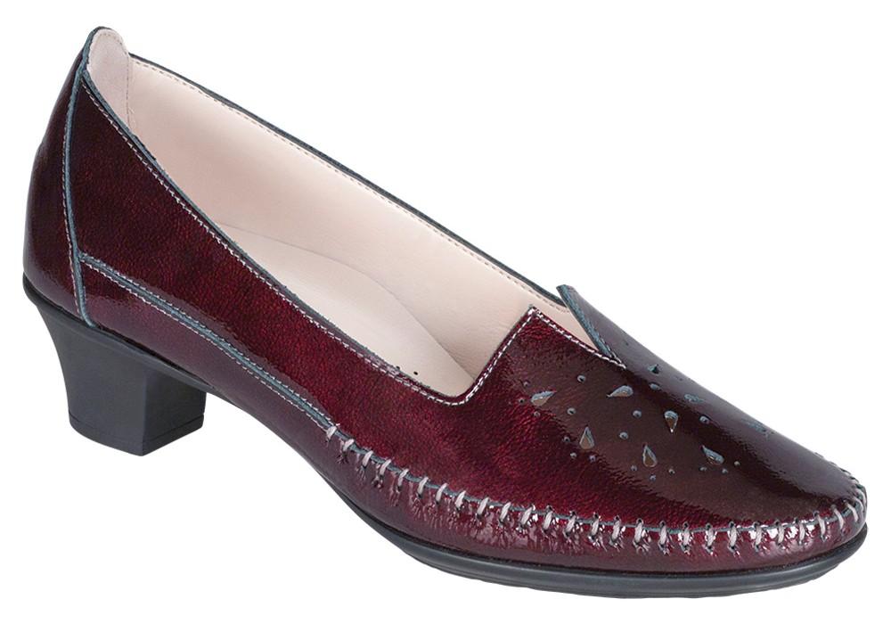 sonyo bordo patent leather slip on sas shoes