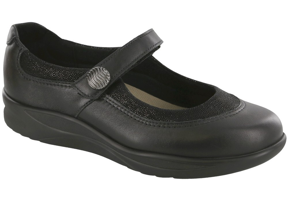 step out black slip on mary jane sas shoes