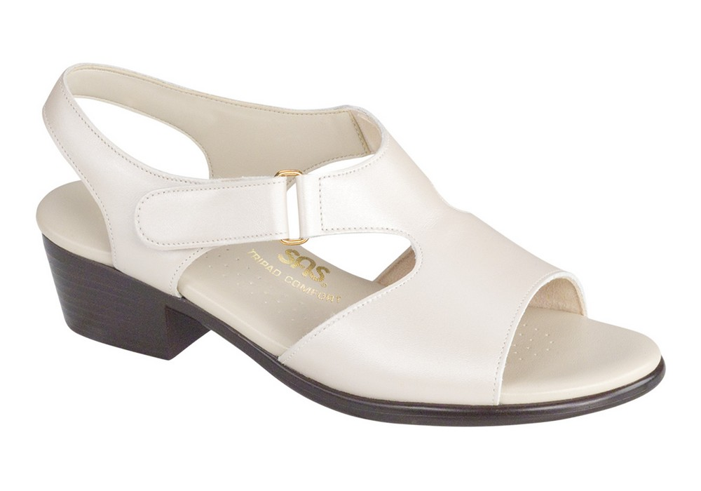 suntimer pearl bone leather sandal sas shoes