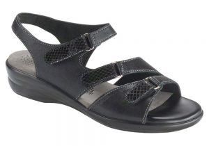 tabby black leather sandal sas shoes