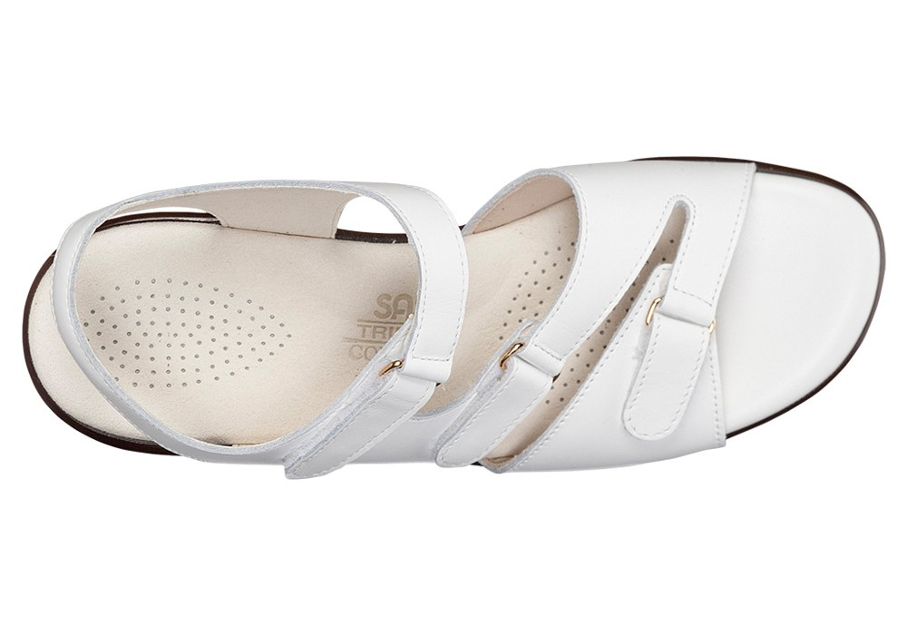 tabby white leather sandal sas shoes