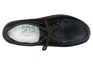 take time black leather fitness walker active sas shoes