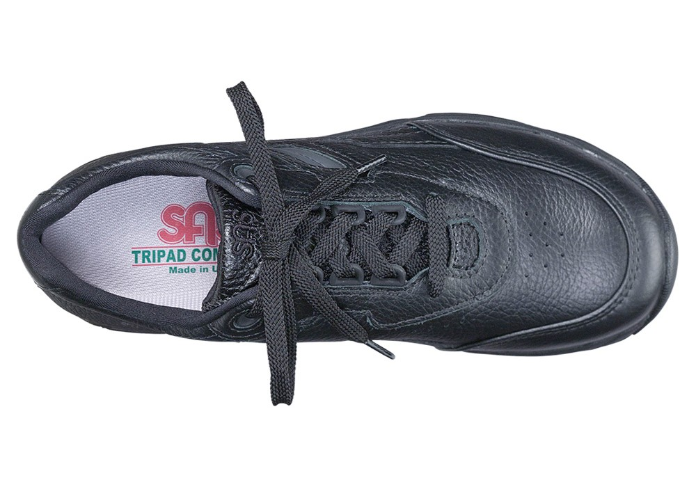 tour black leather tennis active sas shoes