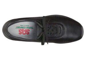 traveler black leather tennis active sas shoes
