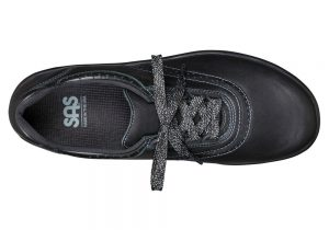 walk easy black leather fitness active sas shoes