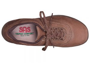 walk easy chocolate leather fitness active sas shoes