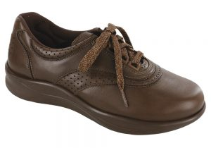 walk easy coffee leather fitness active sas shoes