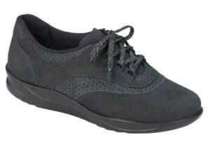 walk easy nero charcoal nubuck leather fitness active sas shoes